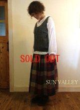 sun valley/サンバレー Wガーゼチェックスカート(ペチコート付き)