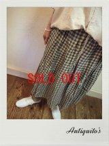 ichi/Antiquite's(アンティークス) リネンギンガムチェックスカート