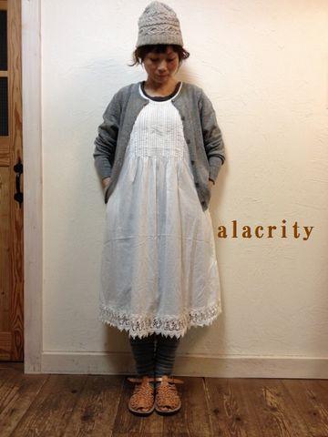 alacrity(アラクリティ)ローンピンタック裾レースワンピース アラクリティ) 600194